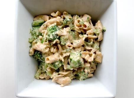 Plant-Based Cheesy Broccoli Mac & Cheese