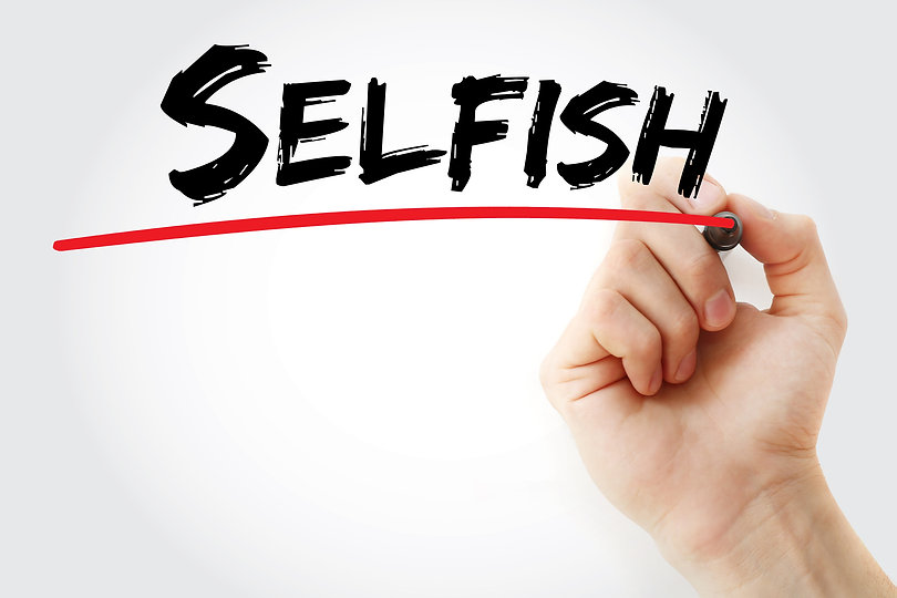 Hand Writing Selfish With Marker.jpg
