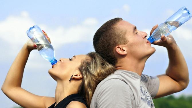 Hidratação durante o treino