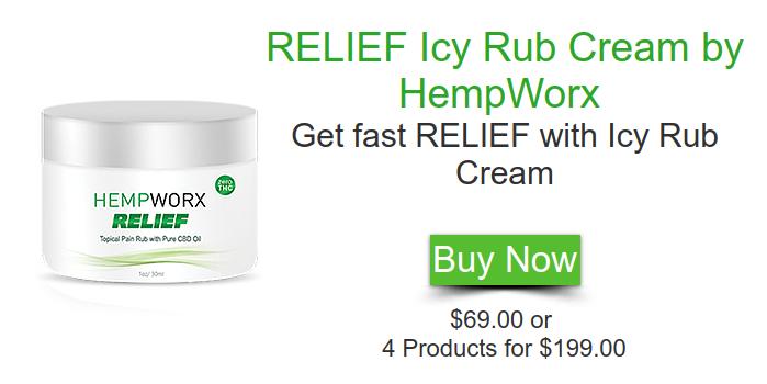 RELIEF Icy Rub Cream by HempWorx