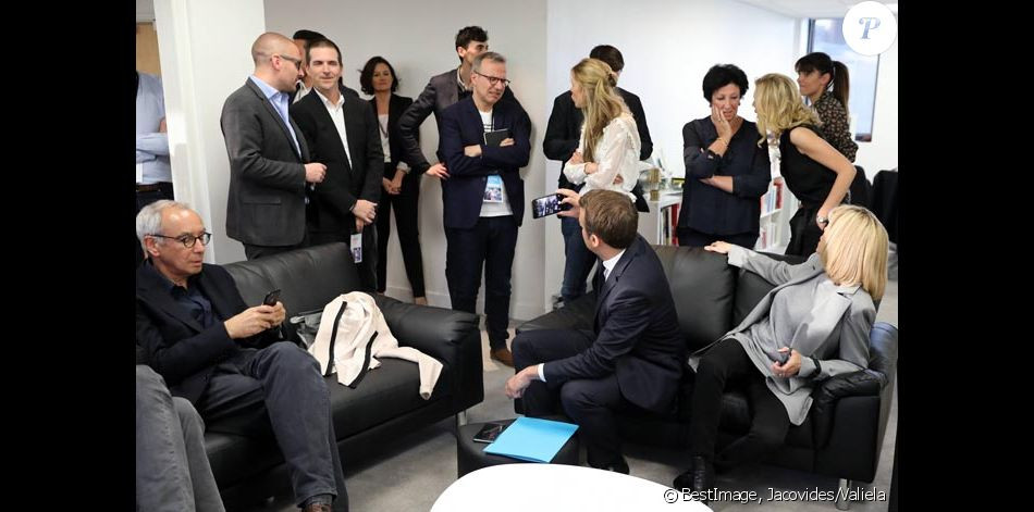 Présidentielle, soir du 2e tour, QG d'E. Macron