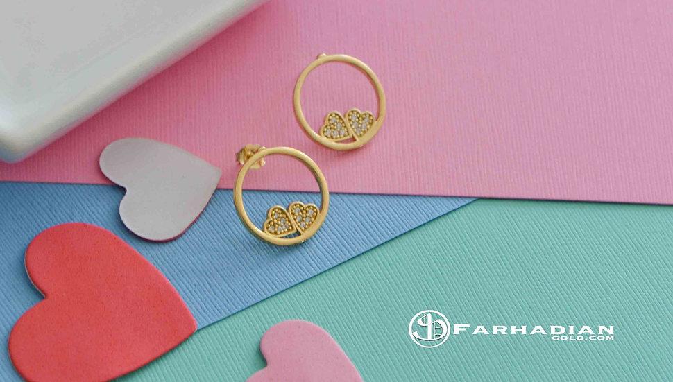 Circle Heart earring