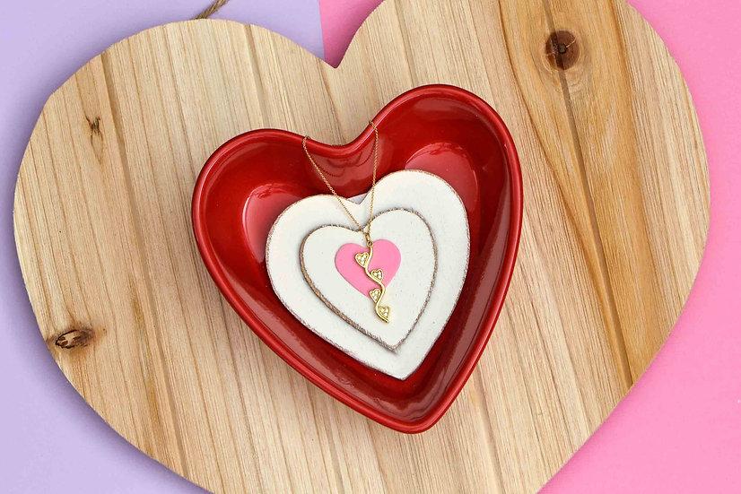 S heart Pendant