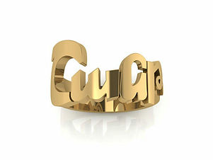 Armenian Name ring , 18k gold name ring , Armenin jewelry , Name ring , Assyrian name ring , Armenian letters , shant ring , unique armenian ring