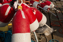 Red and White Buoys