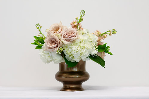 Blush and Bronze Centerpiece