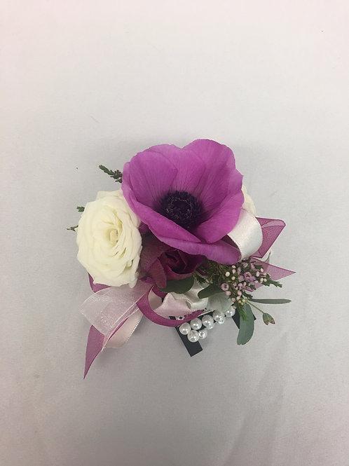Anemone/Rose Corsage