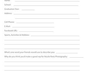 Senior-Rep Application