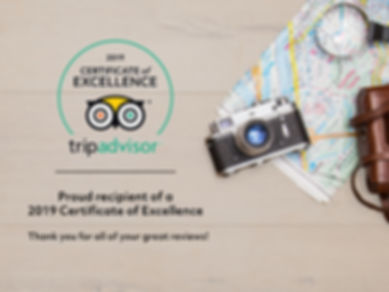 2019 Certificate of Excellence on Trip Advisor