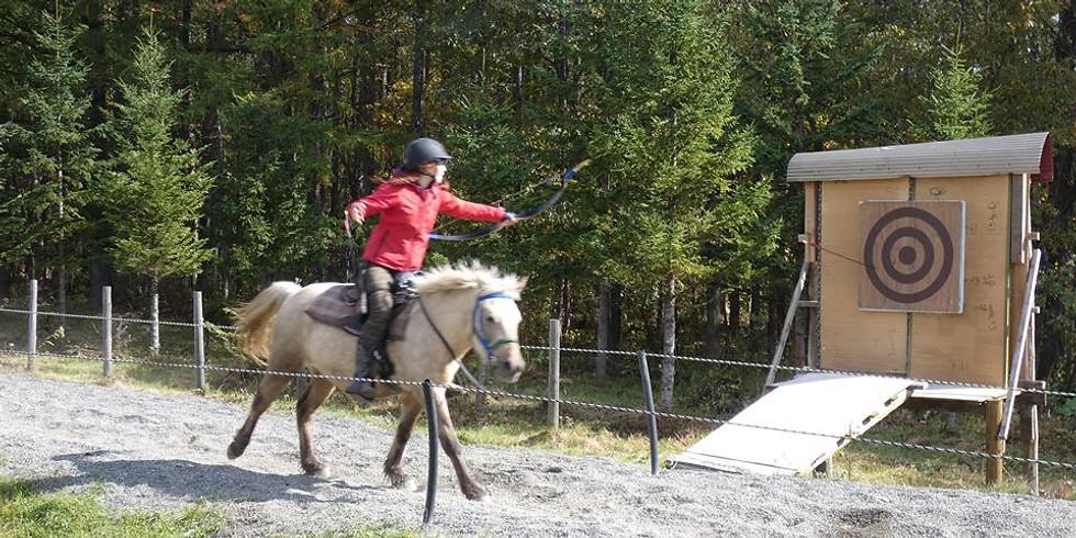 Horseback Archery Clinic Langley, FVMC