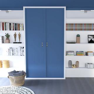 Integrated storage - Mediterranean bedroom