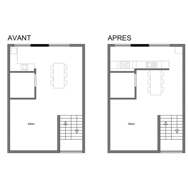 2D kitchen plan