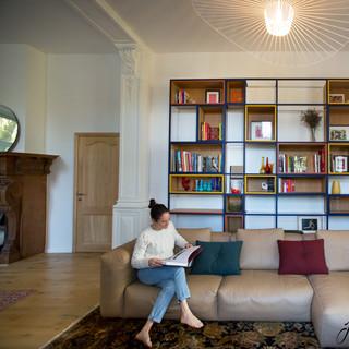 Bibliothèque sur mesure du séjour