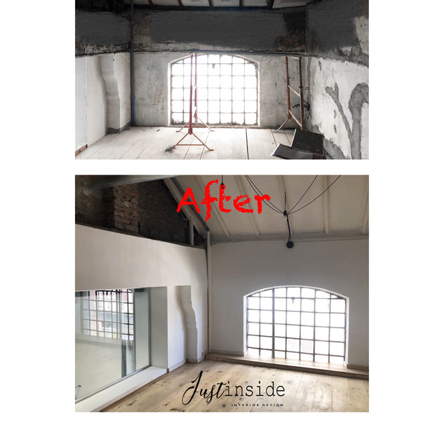 Lounge space - Before/after