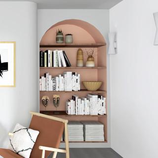 Bibliothèque intégrée salon