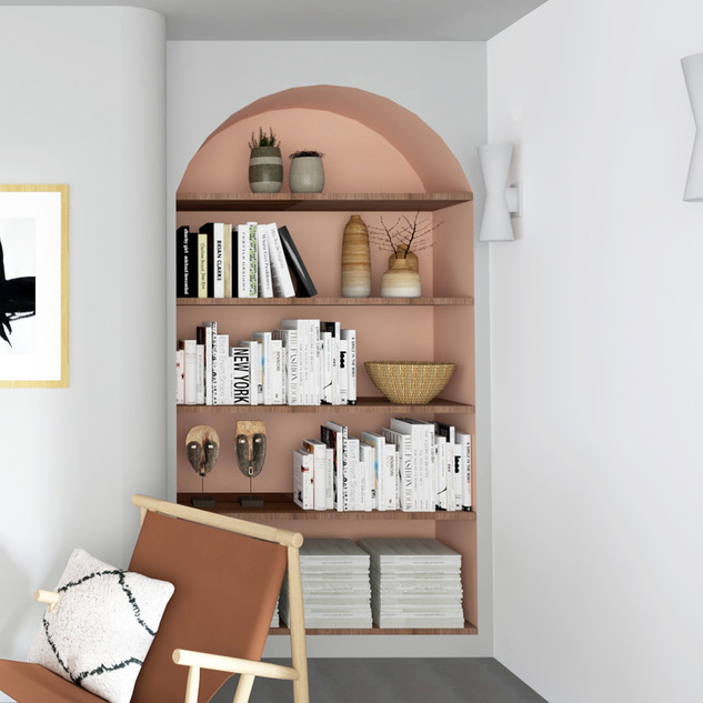 Integrated living room library