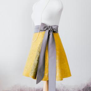 Бесшовная юбка с запахом
