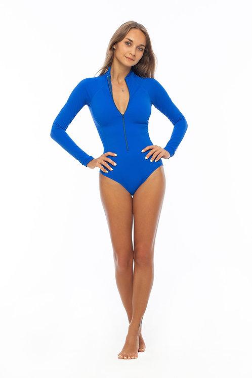 синий купальник для серфинга