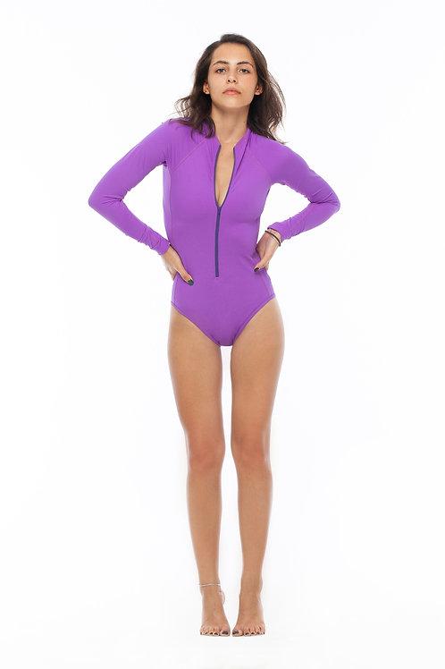 фиолетовая лайкра для серфинга