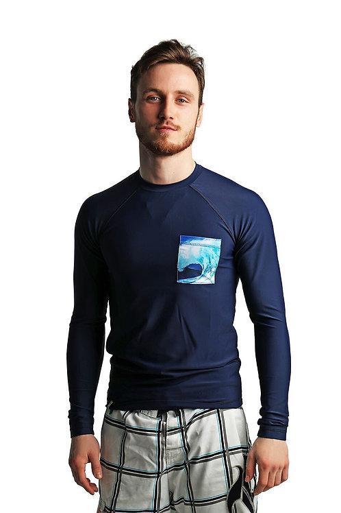 синяя футболка лайкра мужская купить в москве