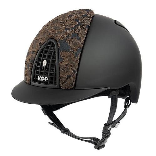 KEP - Cromo Textile noir/dentelle adelaide marron