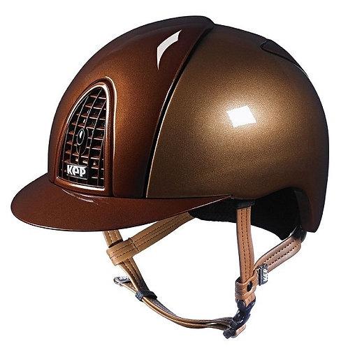 KEP - Casque cromo métal caramel/détails bronze