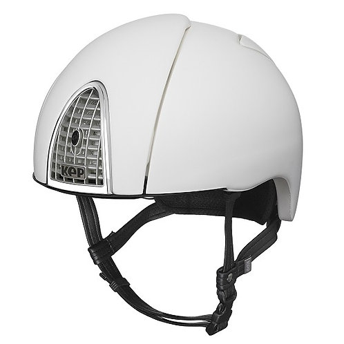 KEP - Casque cromo jockey blanc arc en ciel