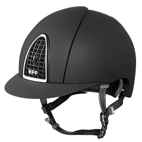 KEP - Casque cromo mica noir/grille noire
