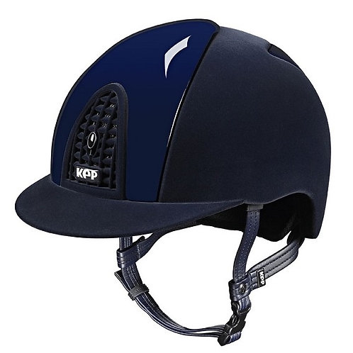 KEP - Casque cromo full velvet bleu/détails brillants
