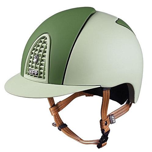 KEP - Casque cromo textile vert clair/éléments vert foncé