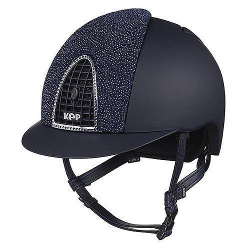 KEP - Cromo textile bleu/damas bleu/contour swarovski