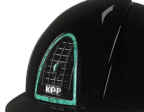 KEP - Cromo polish/élément arrière, contour, grille et bouton malachite