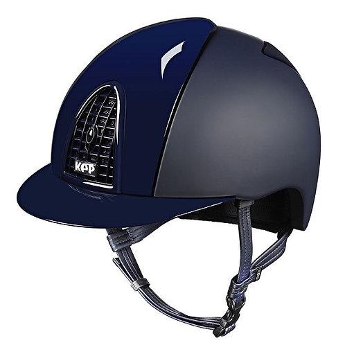 KEP - Casque cromo textile bleu/détails brillants