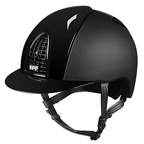 KEP - Casque cromo textile noir/détails brillants