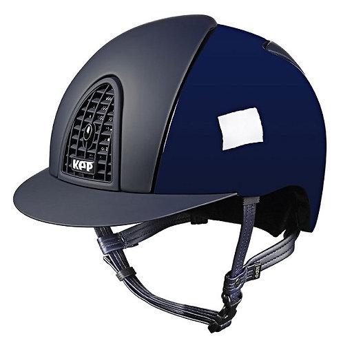 KEP - Casque cromo polish bleu/détails opaques
