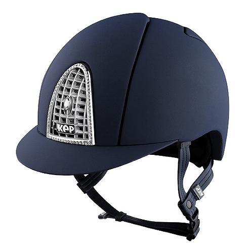 KEP - Cromo Textile bleu/svarovski/grille chromée