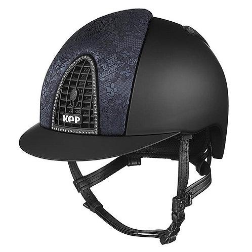 KEP - Cromo Textile noir/soie travaillée noir/contour swarovski