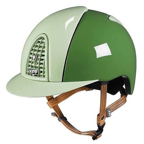 KEP - Casque cromo polish vert foncé/détails vert clair