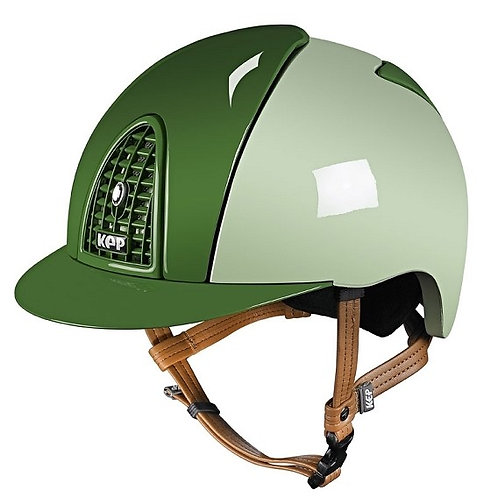 KEP - Casque cromo polish vert clair/détails vert foncé