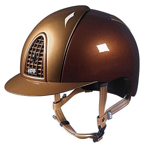 KEP - Casque cromo métal bronze/détails caramel