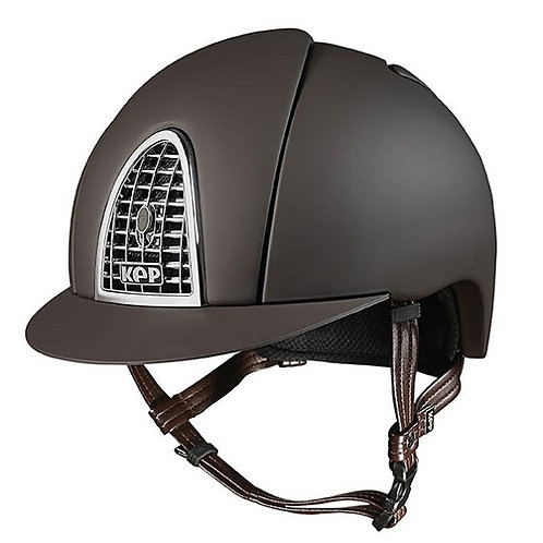 KEP - Casque cromo textile marron/grille chrome
