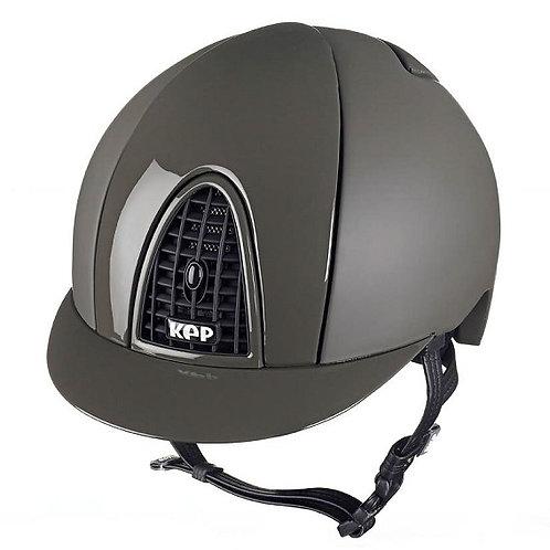 KEP - Casque cromo textile vert militaire/grille noire