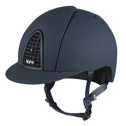 KEP - Casque cromo textile bleu/contour mat