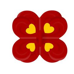 Beeldmerk, Culemborg, vlag, Hart in Culemborg, rood, geel