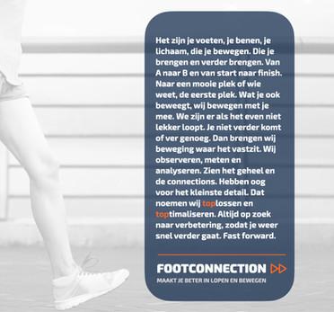 Merkmanifest, FOOTCONNECTION. Maakt je beter in lopen en bewegen