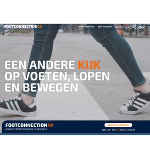 Website, FOOTCONNECTION, Een andere kijk op voeten, lopen en bewegen, podologie