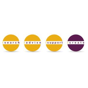 logo, line up, iresearch, labels, isupport, iadvise, icreate, gezondheidswetenschap