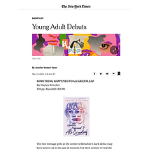 Something Happened to Ali Greenleaf New York Times book review