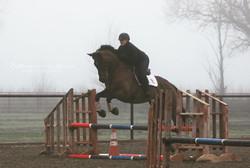 Harper riding with Dom Schramm