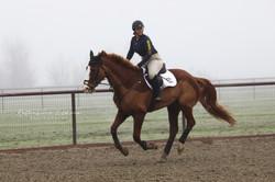 Maria riding with Dom Schramm